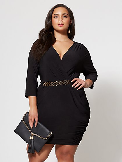FTF Girl Boss Belted Dress - New York & Company