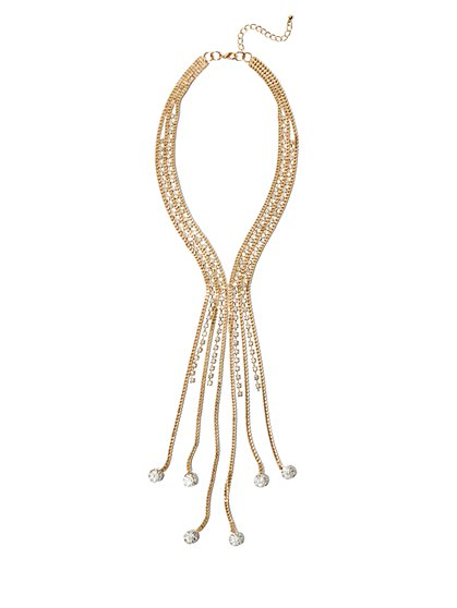 FTF Glam Tassel Necklace - New York & Company