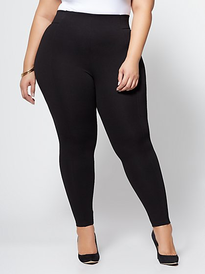 FTF Good Form - Double Seam Ponte Pant - BLACK - New York & Company