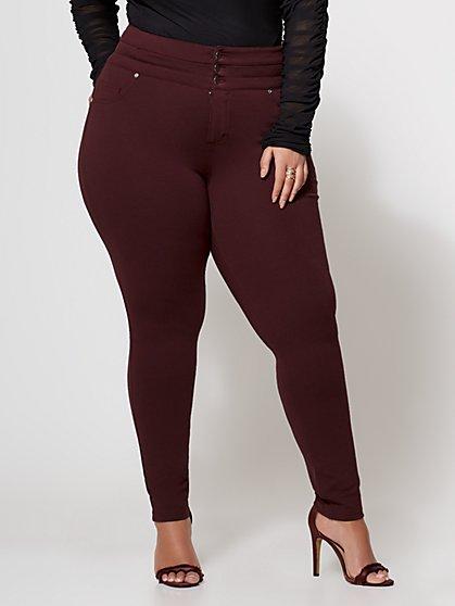 FTF Good Form - Triple Button Ponte Pants - New York & Company