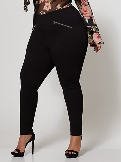 FTF Good Form Zip Lace-Up Pant - New York & Company