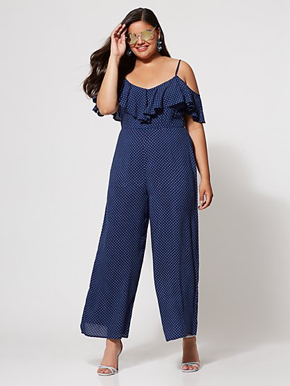 FTF Grace Polka Dot Jumpsuit - New York & Company