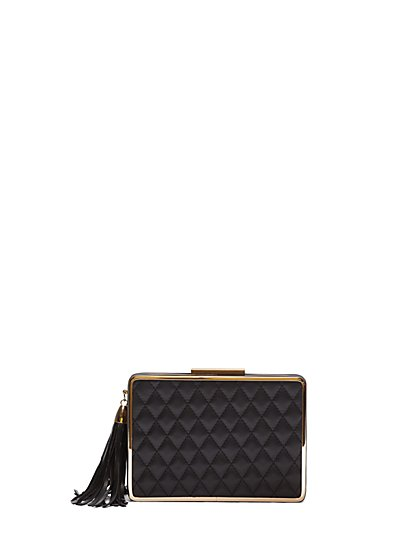 FTF Hard Quilted Clutch - New York & Company
