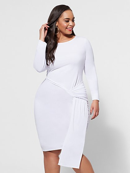 FTF Kira Asymmetric Dress - New York & Company