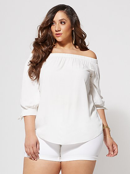 FTF Korey Off Shoulder Blouse - New York & Company