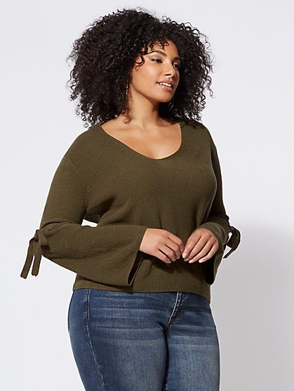 FTF Laurel Bell-Sleeve Sweater - New York & Company