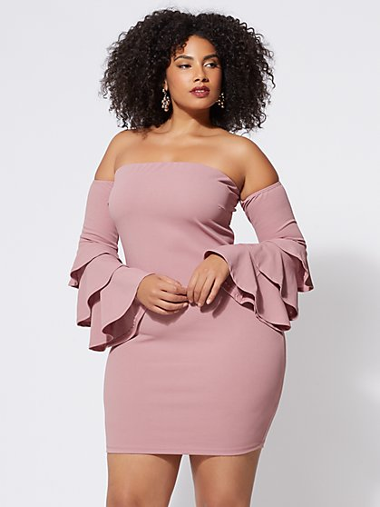 FTF Leilah Bell-Sleeve Dress - New York & Company