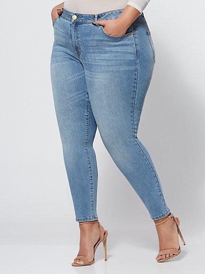 FTF Light Wash Lycra Premium Skinny Jean - Tall - New York & Company
