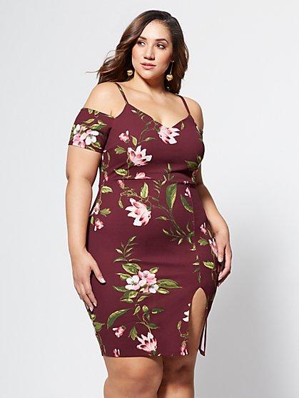 FTF Lulu Floral Slit Dress - New York & Company