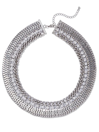 FTF Luxe Chain Statement Necklace - New York & Company