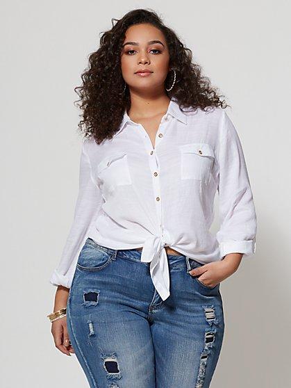 FTF Magnolia Cotton Shirt - New York & Company