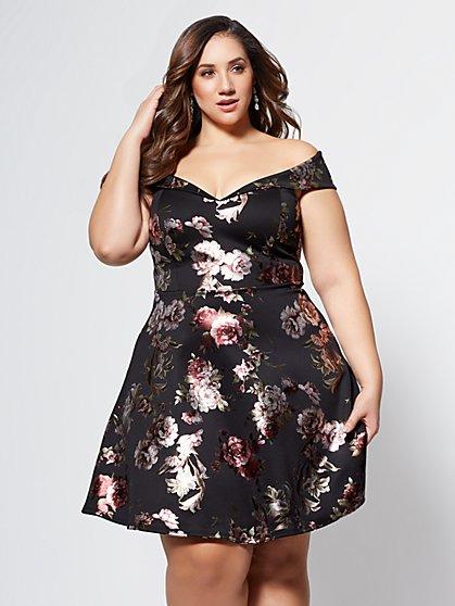 FTF Maria Floral Dress - New York & Company