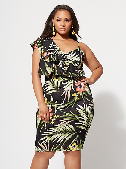 FTF Martina Floral Bodycon Dress - New York & Company