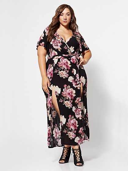 FTF Meredith Floral Maxi Dress - New York & Company