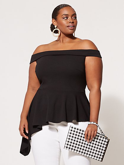 FTF Mira Peplum Top - New York & Company
