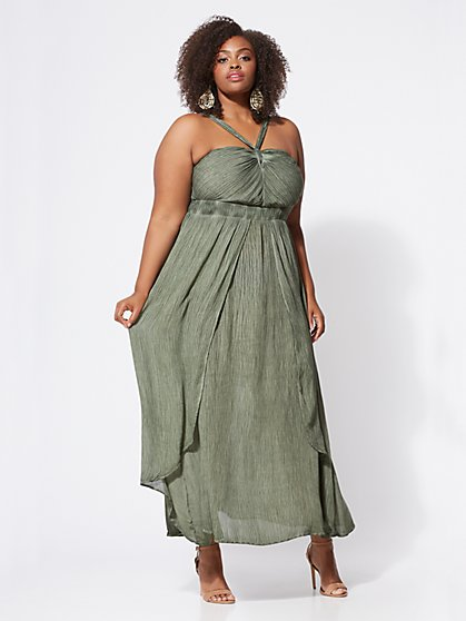 FTF Mischa Textured Maxi Dress - New York & Company