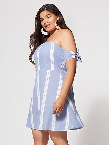 FTF Molly Striped Dress - New York & Company
