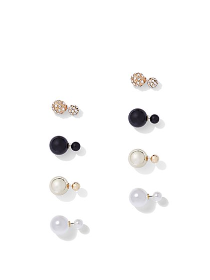 FTF Multicolor Earring Stud Set - New York & Company