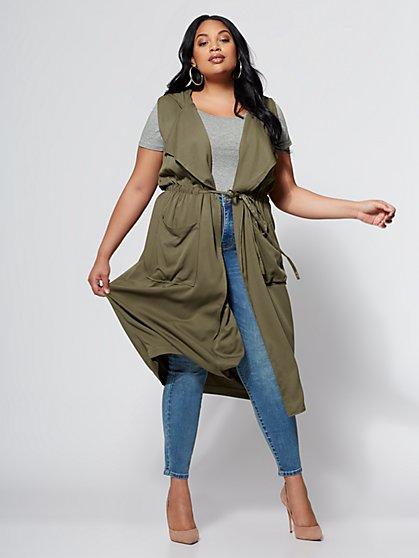 FTF Olive Tunic Vest - New York & Company
