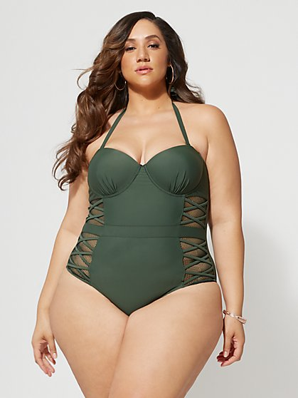 FTF Olivia One-Piece Swimsuit - New York & Company