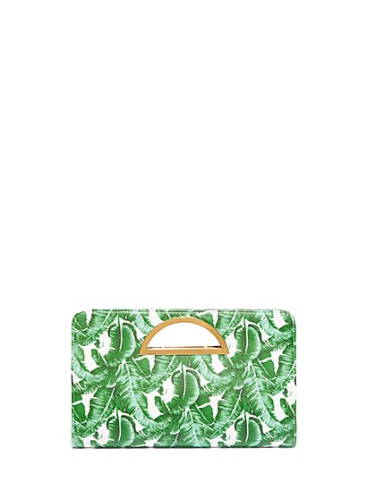 FTF Palm Print Purse - New York & Company