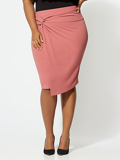 FTF Pamela Knotted Pencil Skirt - New York & Company