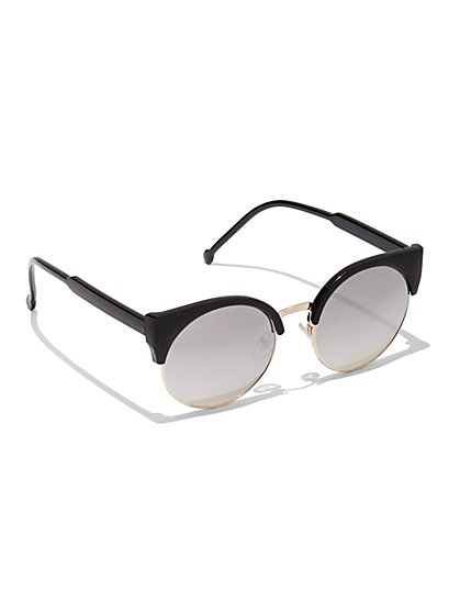 FTF Retro Cat Eye Sunglasses - New York & Company