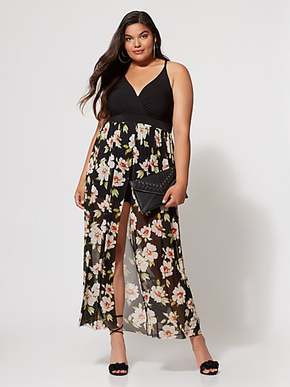 FTF Rooney Romper Maxi Dress - New York & Company