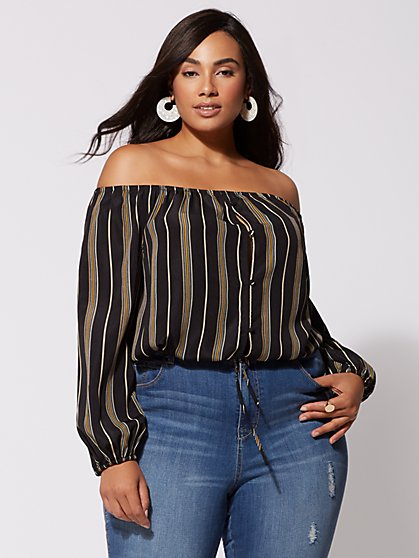 FTF Samantha Off-Shoulder Top - New York & Company