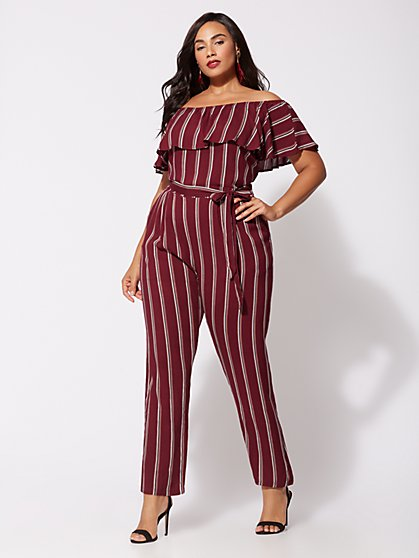FTF Shadia Off-Shoulder Jumpsuit - New York & Company