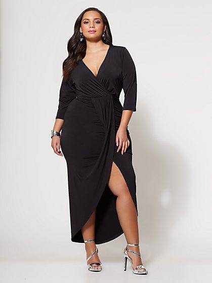 FTF Signature - Lala Draped Maxi Dress - New York & Company