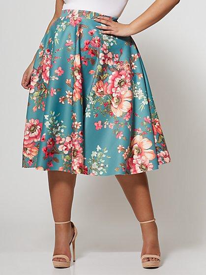 FTF Signature - Print Sofie Circle Midi Skirt - New York & Company
