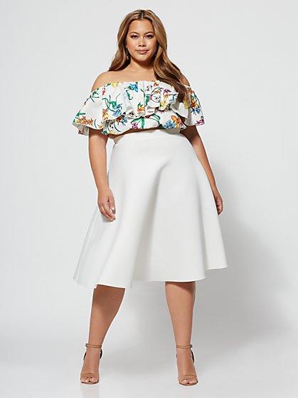 FTF Signature - Sofie Circle Midi Skirt - New York & Company