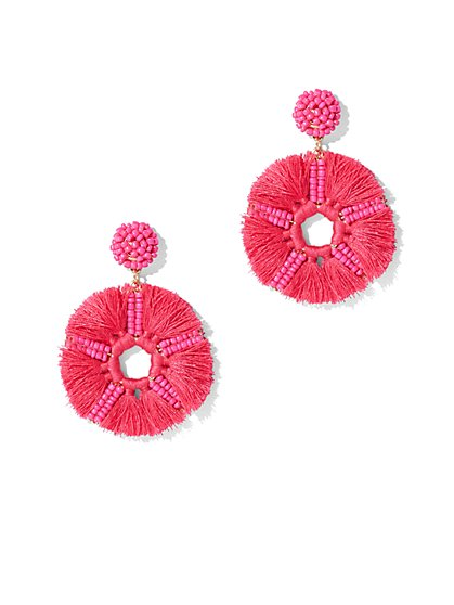 FTF Star Fringe Statement Earring - New York & Company