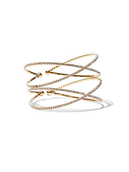 FTF Statement Gold Bracelet - New York & Company