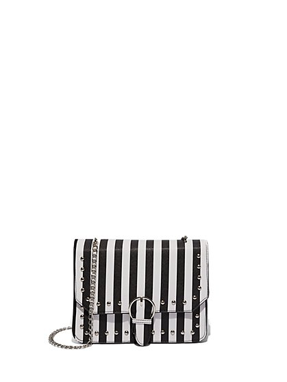FTF Studded & Stripe Bag - New York & Company