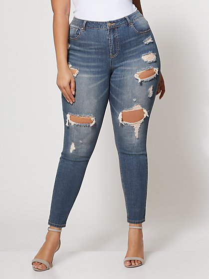 FTF Super Destructed Jeans - New York & Company