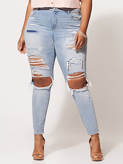 FTF Super Destructed Skinny Jeans - New York & Company