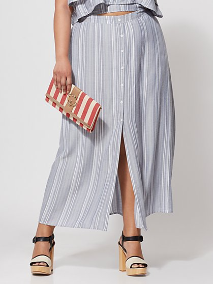 FTF Tori Button-Up Maxi Skirt - New York & Company