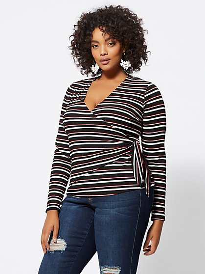 FTF Trina Wrap-Front Top - New York & Company