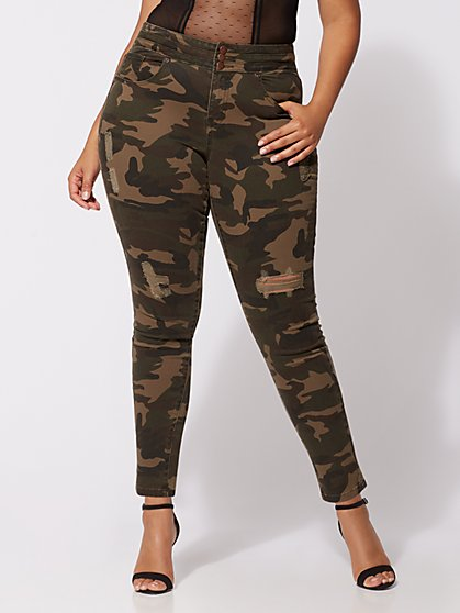 FTF Triple Stack High-Waist Jeans - Camo - New York & Company