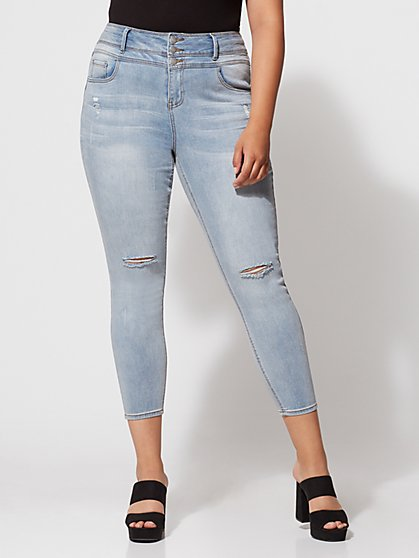 FTF Triple Stack High-Waist Jeans - Light Wash - New York & Company