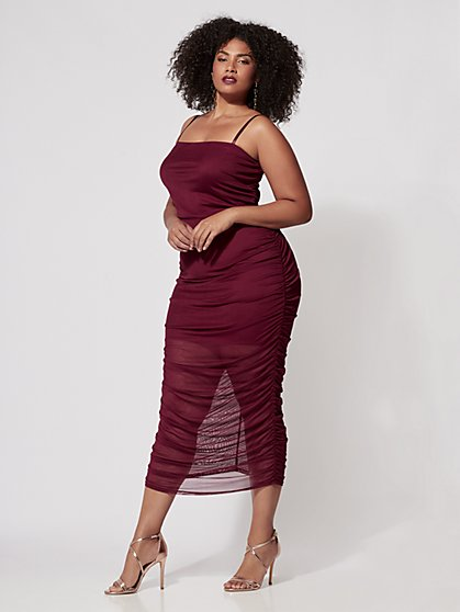 FTF Valentina Mesh Midi Dress - New York & Company