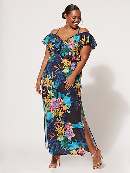 FTF Valeria Floral Maxi Dress - New York & Company