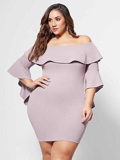 FTF Zoe Bell Sleeve Dress - New York & Company