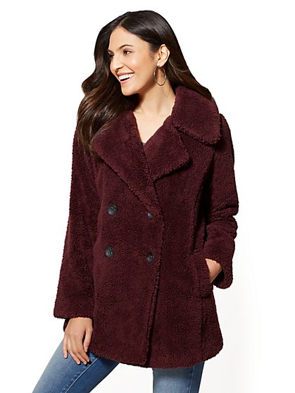 Faux-Fur Peacoat - New York & Company