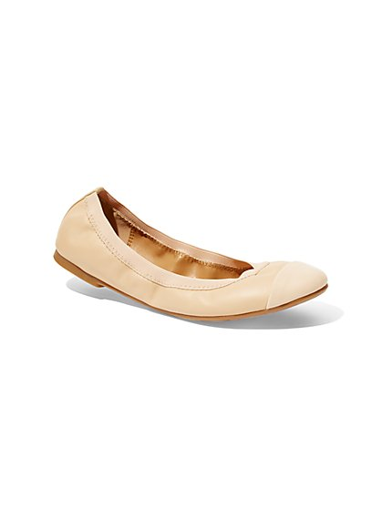 Faux-Leather Ballet Flat - New York & Company
