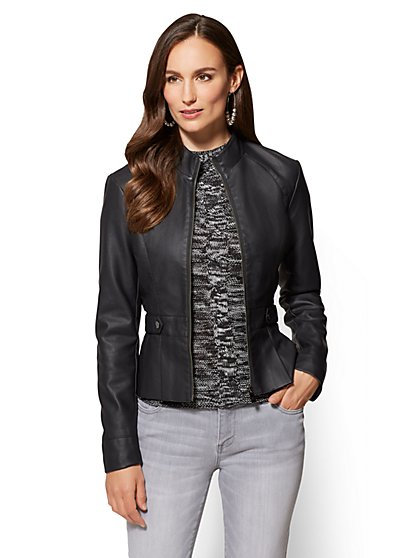 New York & Company Faux Leather Jackets in 5 Colors