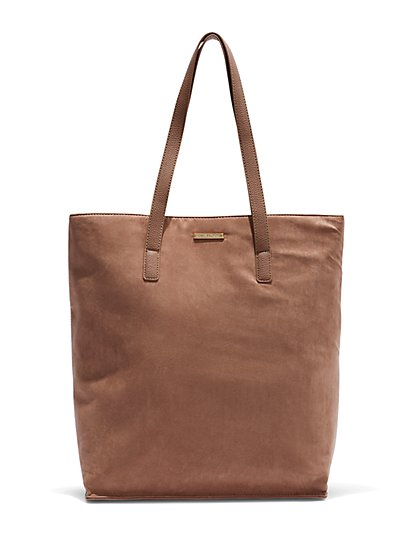 Faux-Leather Tote Bag - New York & Company