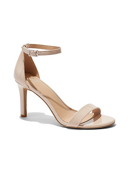 Faux Patent-Leather Sandal - New York & Company